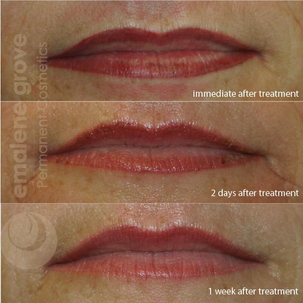 Permanent makeup healing lips – World novelties makeup 2017